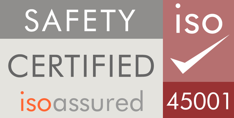 Safety certified iso assured 45001